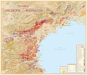 Exemple de carte Benoit France : Le vignoble du Languedoc