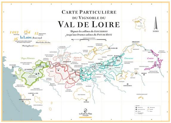 Exemple carte des vins Val de Loire