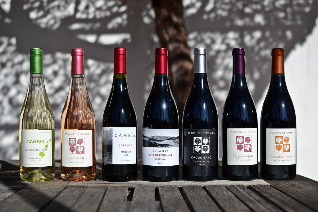 La gamme de vins du Domaine de Cambis